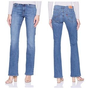 NWT Levi's 515 Bootcut Stretch Light Wash Jeans 22